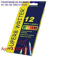 """Олівці 12 кольорів шестигранні,  Superb Writer,  4100-12CB,  TM """"Marco"""""""