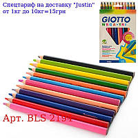 Олівці BLS 2194 кольорові,  12шт,  в кор-ке,  12-21-1см