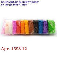 DSCN1593-12 Пластилин шариковый 12цв * 16g,  1шт / этик,