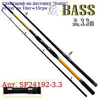 """Спінінг короповий штекер """"Bass"""" 3, 3м 300г 3к SF24192-3, 3"""