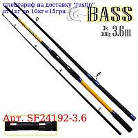 """Спінінг короповий штекер """"Bass"""" 3, 6м 300г 3к SF24192-3, 6"""