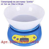 Весы кухонные электронные 0 ~ 5 кг 22 * 17 * 11см E00018 / ME-0910