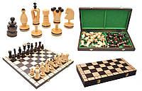 Шахматы 3107 LARGE KINGS, коричневые 49.5x24.5x6см (король-100мм)