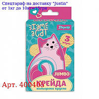"""Мел 1вересня кольоровий JUMBO,  3 шт,  """"I am a cat"""""""