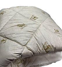 Ковдра двуспальна Євро 200х215см|Pure Wool/Овеча шерсть|Лері&Макс|Ковдру на овчині, фото 3