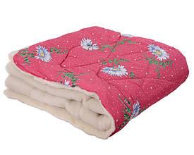 Ковдра двуспальна 180х210см|Відкрите хутро|Овеча шерсть|Лері&Макс|Одеяло на овчине
