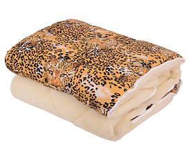 Ковдра двуспальна Євро 200х215см|Відкрите хутро|Овеча шерсть|Лері&Макс|Одеяло на овчине