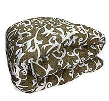 Ковдра двуспальна Євро 200х215см|Овеча шерсть|Лері&Макс|Ковдру на овчині, фото 3