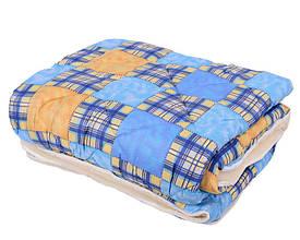 Ковдра полуторна 150х210см|Відкрите хутро|Овеча шерсть|Лері&Макс|Одеяло на овчине