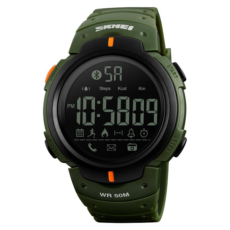 Уценка!!! Skmei 1301 зеленые мужские спортивные часы