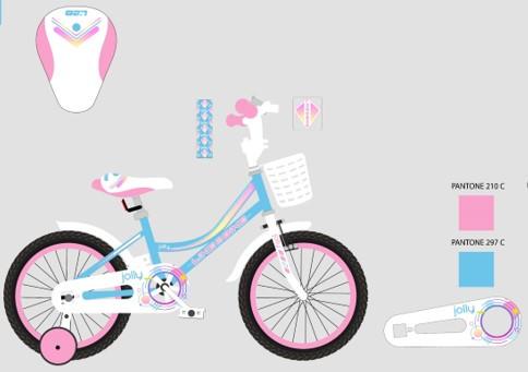 Двоколісний дитячий велосипед для дівчинки Like2bike Jolly 212012 колеса 20 дюймів з передньої кошиком блакитний