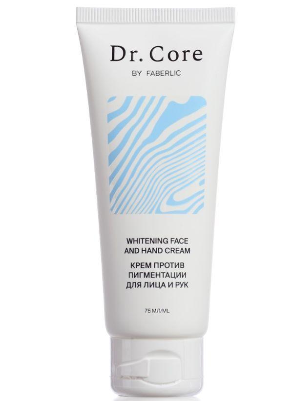 Крем для обличчя та рук проти пігментації Dr. Core