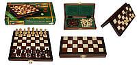 Шахматы 2029 магнитные малые, коричневые  23.5х11.5х3.5см (король-45мм)