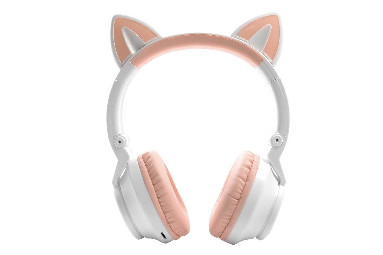Беспроводные наушники Wireless Cat Ear Headphones STN-26 с кошачьими ушками(Розовые)