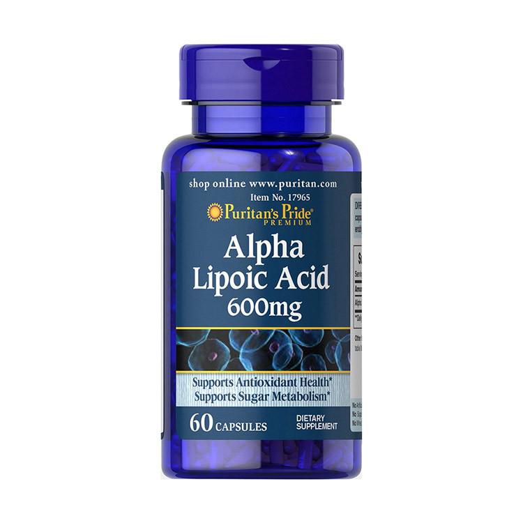 Альфа-липоевая кислота Puritan's Pride Alpha Lipoic Acid 600 mg 60 caps