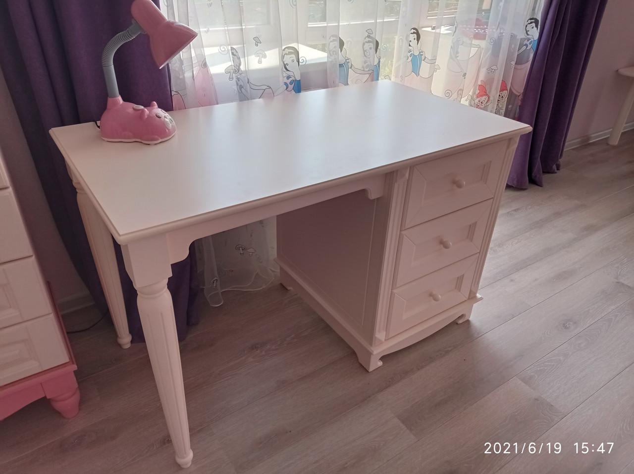 Письмовий стіл білий МДФ (120х65х76 см)
