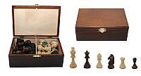 Шахматные фигуры 2046 Staunton N 7 коричневые в дерев.коробке  (король-100мм)