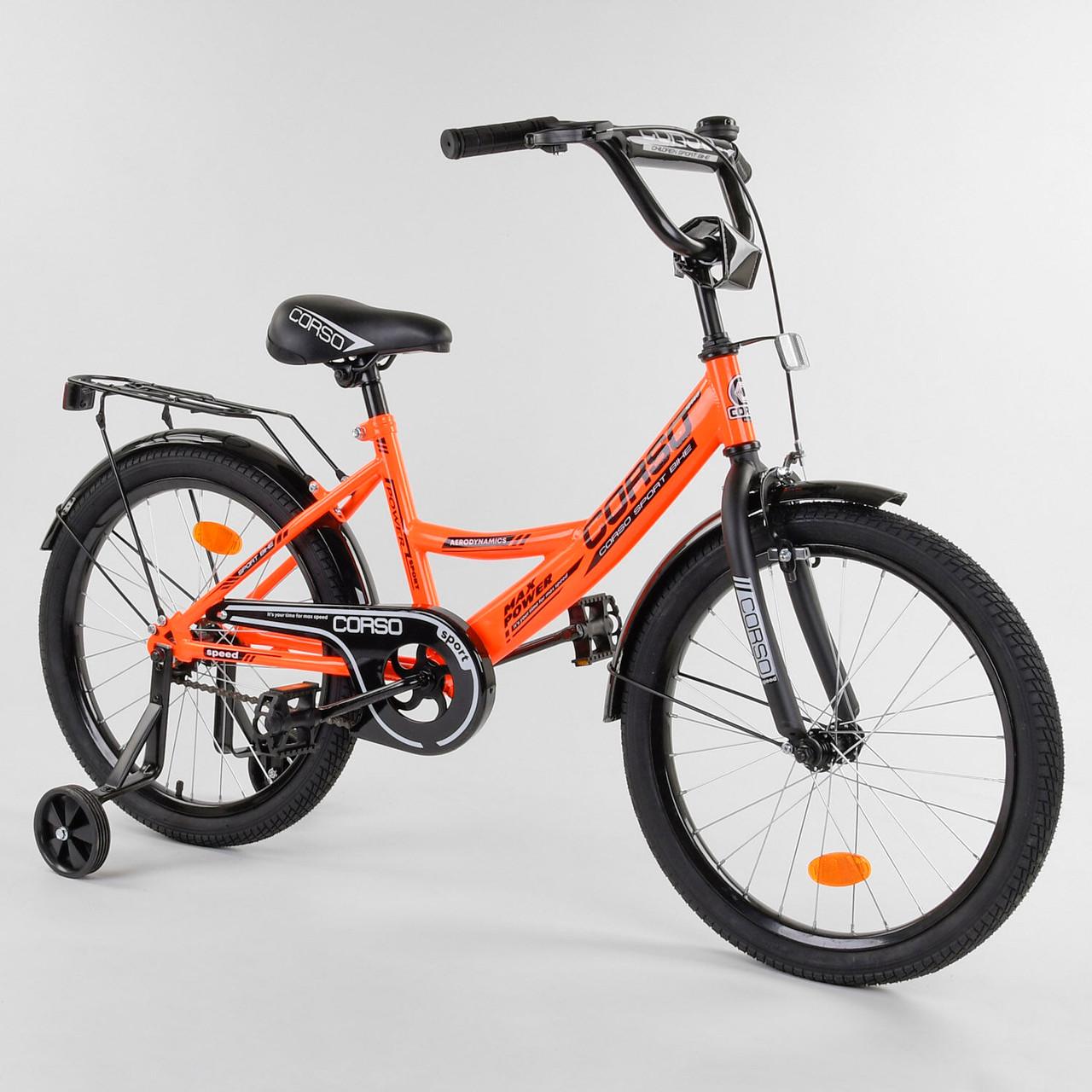 Велосипед детский для мальчика девочки 5 6 7 лет колеса 18 дюймов Corso CL-18412