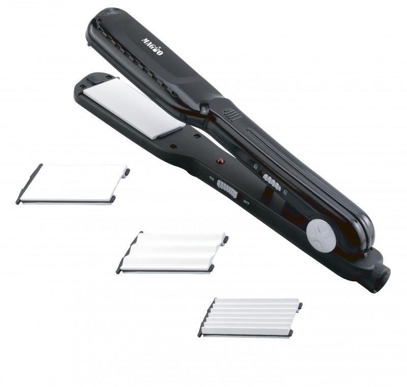 Щипцы для волос MAGIO МG-175 BL, 25Вт, керамические, 2 насадки, гофре