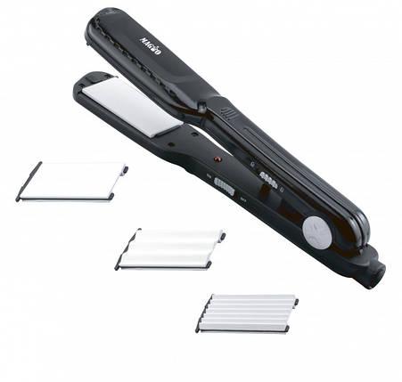 Щипцы для волос MAGIO МG-175 BL, 25Вт, керамические, 2 насадки, гофре, фото 2