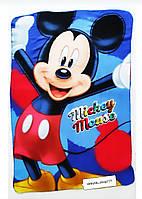 Детский плед. Флисовый плед для мальчика. Плед Микки Маус. Детское покрывало Mickey Mouse. 95/140 см.