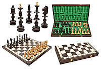 Шахматы 3120 OLD POLISH , коричневые 55.5x28x6см (король-140мм)