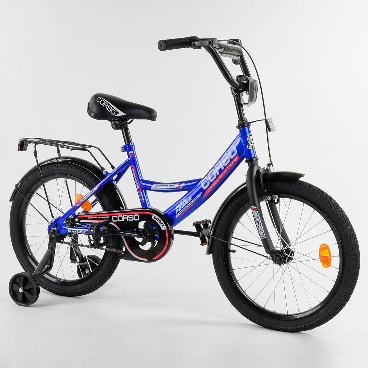 Велосипед детский для мальчика девочки 5 6 7 лет колеса 18 дюймов Corso CL-18106