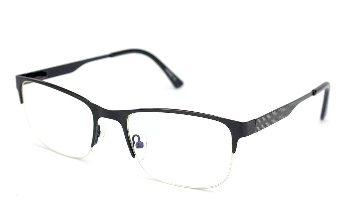Очки для компьютера Blue Blocker из металла, очки компьютерные, в чёрной оправе, мужские, Verse