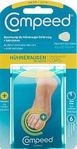 Пластир Compeed Cors Plaster для сухих мозолів на пальцях ніг з саліцилової кислотою зволожуючий 6 шт