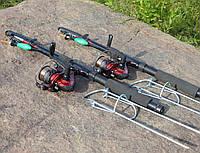 Удочки дальнего заброса 2,4м Рыболовный набор 2шт спиннинги в сборе с катушкой + подставки в подарок