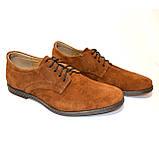 Мужские замшевые рыжие классические туфли от производителя, фото 2