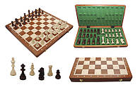 Шахматы 309904 Tournament №6 Intarsia махагон 52.2х25,5х5,5см (король 98мм)