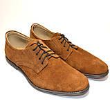 Мужские замшевые рыжие классические туфли от производителя, фото 3
