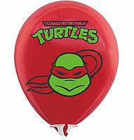 """Латексна кулька 12"""" червона з малюнком """"Черепашки-ніндзя.Рафаель"""" (BelBal)"""