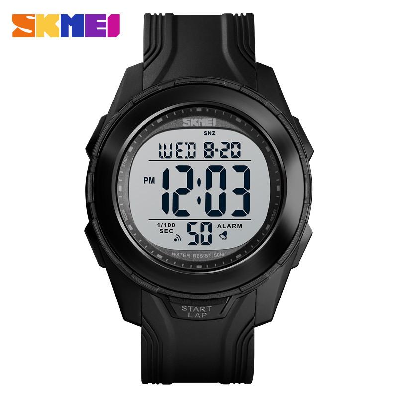 Уценка!!!  Skmei 1503 черные мужские спортивные часы