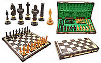 Шахматы 3104 ROYAL, коричневые 62x31.5x7см (король-125мм)