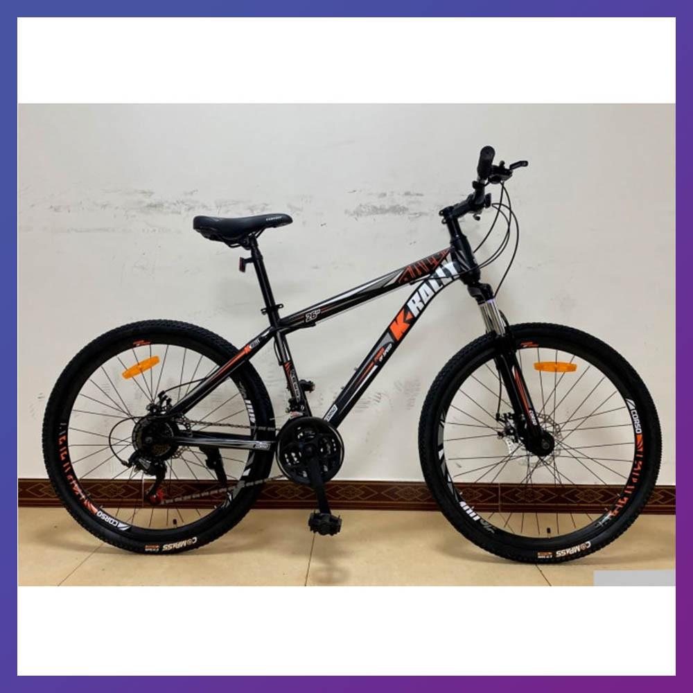 """Велосипед спортивний двоколісний зі швидкостями 21 шт. Corso K-RALLY 93458 26"""" колеса 15"""" рама помаранчевий"""