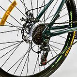 """Велосипед спортивний двоколісний зі швидкостями 21 шт. Corso K-RALLY 93458 26"""" колеса 15"""" рама помаранчевий, фото 5"""