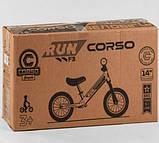 Детский беговел велобег 14 дюймов Corso CR-6247 зеленый, фото 2