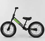 Детский беговел велобег 14 дюймов Corso CR-6247 зеленый, фото 3