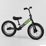 Детский беговел велобег 14 дюймов Corso CR-6247 зеленый, фото 5