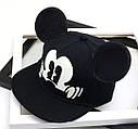 Детская кепка снепбек с ушками Микки Маус (Mickey Mouse) Disney с прямым козырьком Красная 2, Унисекс, фото 3