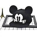 Детская кепка снепбек с ушками Микки Маус (Mickey Mouse) Disney с прямым козырьком Красная 2, Унисекс, фото 6