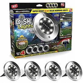 Набор садовых светильников на солнечных батареях 8 Led 4 шт SKL11-290101