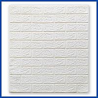 Декоративные мягкие 3D Панели под Кирпич 700*770*5мм 3д для стен в ванную спальню и кухню самоклейка