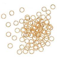 Соединительные колечки (кольца) Золотые 5 мм 50 шт/уп