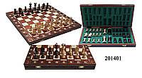 Шахматы 201401 Senator, коричневые 42х21х5см (король-85мм)