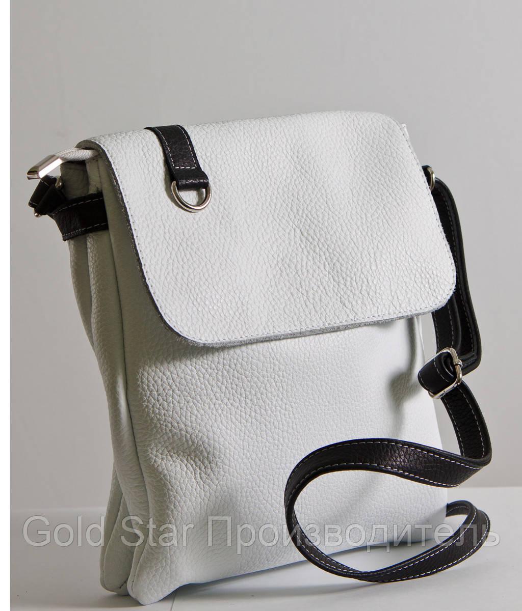 Сумка женская кожаная белая через плечо  продажа, цена в Ивано ... d5a643af52f