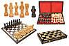 Шахматы 3117 GLADIATOR, коричневые 59x29.5x6.5см (король-150мм)