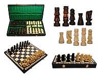 Шахматы 3110 GIEWONT, коричневые 49x24.5x5.5см (король-100мм)